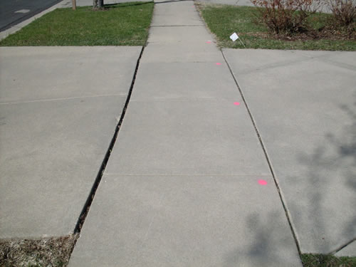 Gap at Edge of Sidewalk