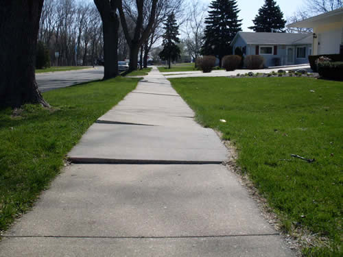 Back Pitched Sidewalk