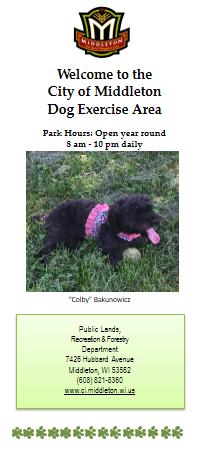Dog Park Brochure Cover